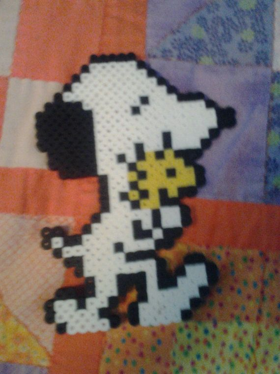Perler Bead  Snoopy and Woodstock by BaysilCreation on Etsy, $5.00