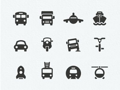 transportation pictograms