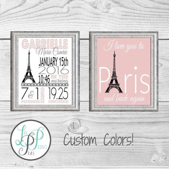 Paris Theme Nursery Prints Paris Nursery Paris by LilPeasPrints