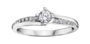 14k White Gold 0.30ct Canadian Diamond Engagement Ring. Inspired by the beauty of our land, the diamonds in this exquisite ring are mined in Canada and are authentically natural and untreated — pure as the majestic ice fields of Canada's Great White North. Each Canadian diamond is tracked in strict accordance to The Canadian Diamond Code of Conduct for its entire journey, from …