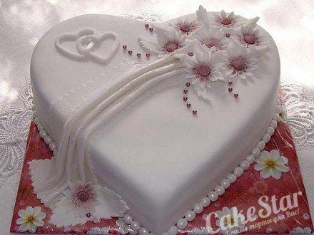 Свадебный торт Сердце Для Двоих