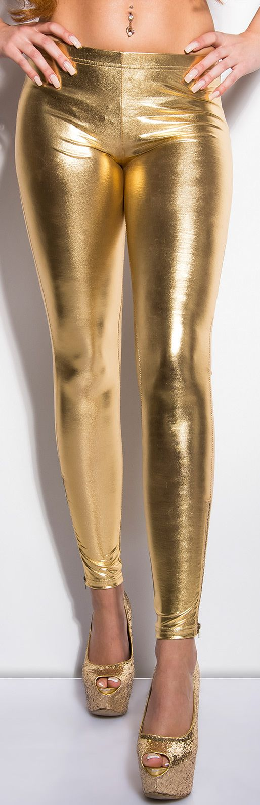Gold Liquid Leggings
