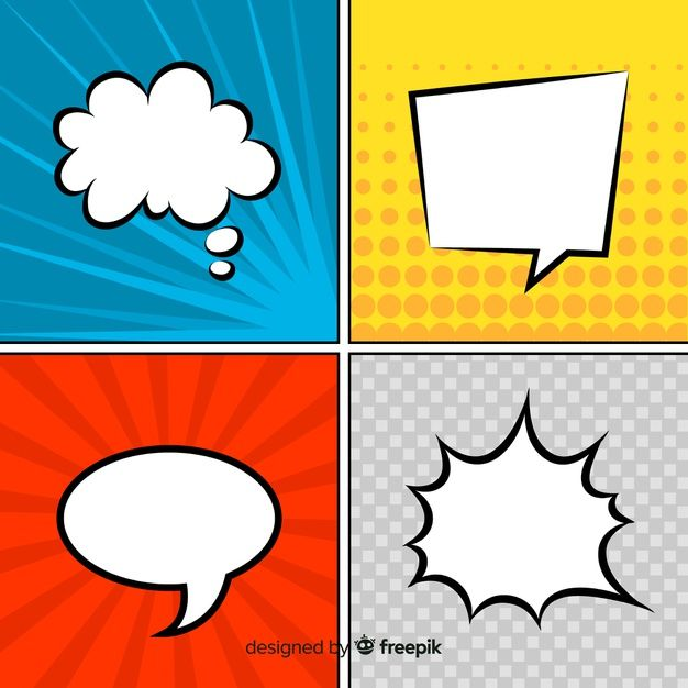 Download Comic Speech Bubbles Colorful Collection For Free Free