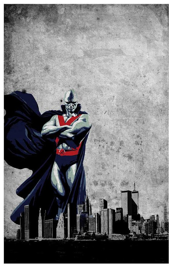 Justice League - Martian Manhunter  Poster size: 11 inches x 17 inches  - Printed on high quality, weather resistant, 220g texture card - All