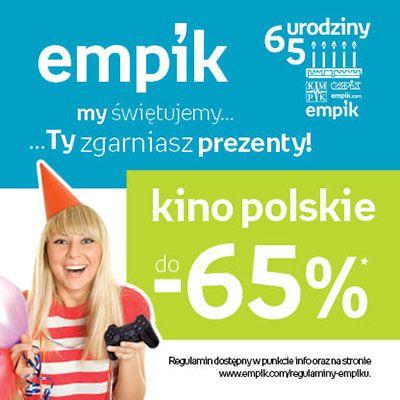 Urodzinowe świętowanie trwa dalej! Co powiecie na polskie filmy tańsze nawet o 65%? :)