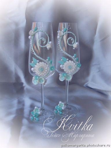 Свадебные бокалы ручной работы. DSC04704 (Свадьбы)