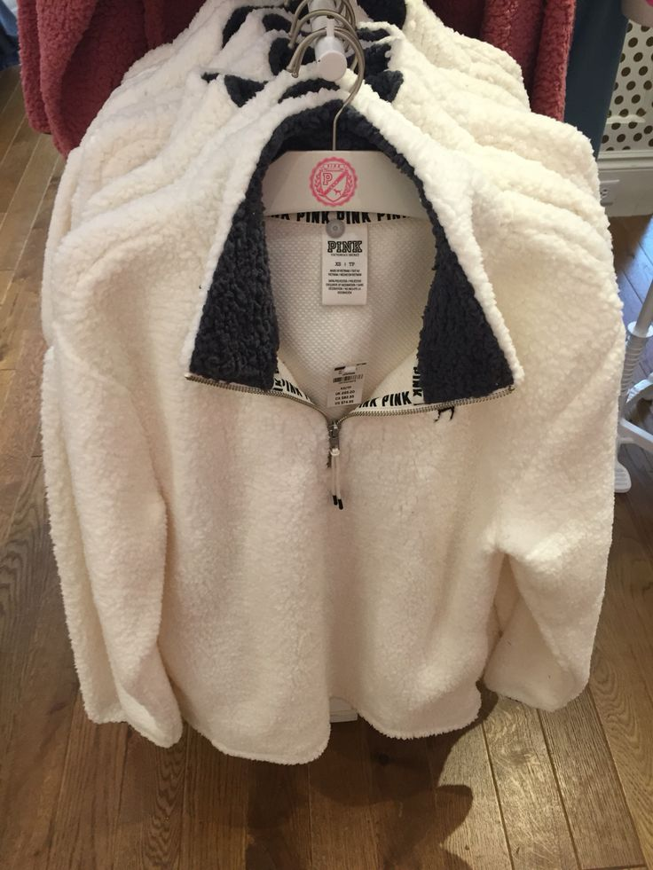 Super comfortable Sherpa pullover from PINK  at Polaris Fashion Place, small would be the best size.