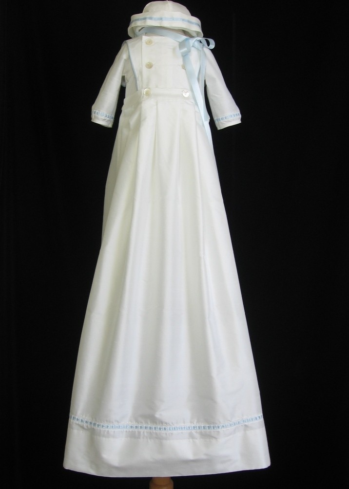 Boys Silk Christening Gown Baptism Outfit by embroideredheirlooms, $325.00