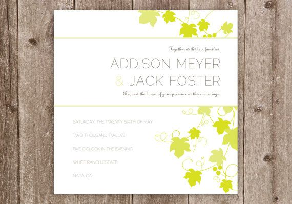 Wedding Invitations Contemporary Vineyard Vines Wedding by elsiej, $2.25