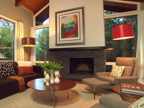 Mid Century Modern Living Room With Fireplace best 20+ midcentury fireplaces ideas on pinterest | midcentury