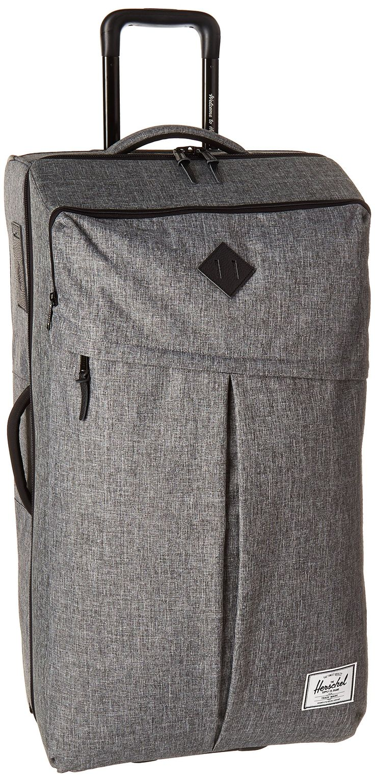 Herschel Supply Co. Parcel XL Luggage, Raven Crosshatch/Black Pebbled Leather