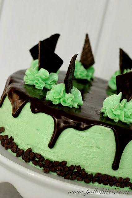 Pullahiiren leivontanurkka: Minttu-suklaakakku / Mint chocolate cake