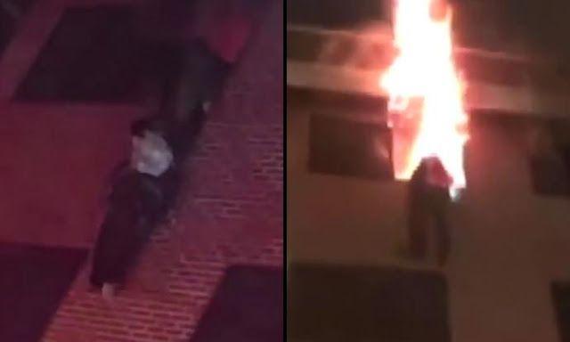 Aksi Heroik!! Pemadam kebakaran Korea melindungi korban dari api menggunakan tubuhnya jadi Viral