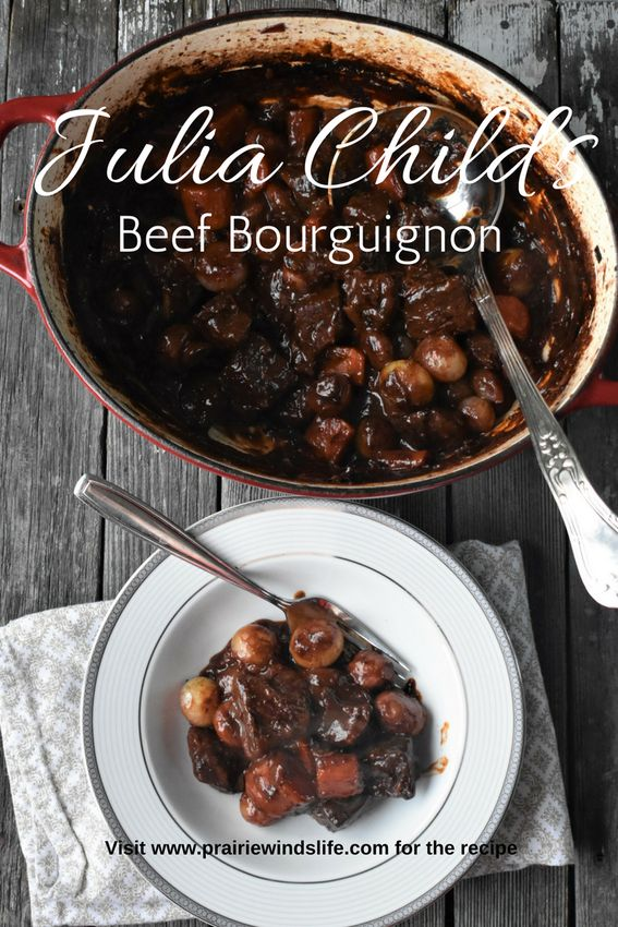"""Say it with a thick French accent """"Boeuf Bourguignon"""". This was such a delicious dish and was so comforting on a cold day! I had fun cooking from Julia Child's """"Mastering the Art of French Cooking""""."""