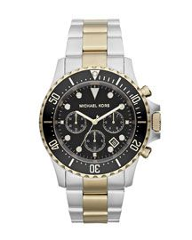 Michael Kors Michael Kors Oversized Two-Tone Stainless Steel Everest Chronograph Watch