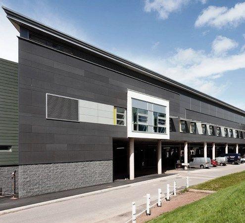 Hospital Caerphily, UK. EQUITONE facade materials. www.equitone.com