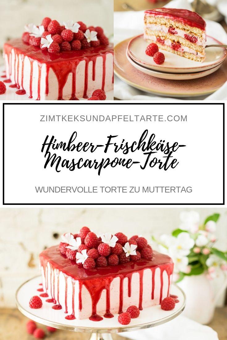 Himbeer Frischkase Mascarpone Torte Rezept Kuchen Und Torten