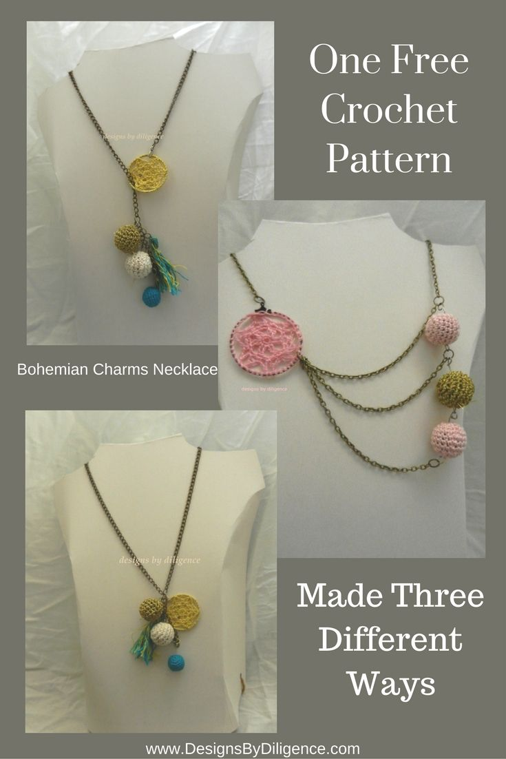 172 best crochet jewellery images on pinterest crochet free the bohemian charms necklace is a free simple pattern to follow and it has limitless bankloansurffo Image collections