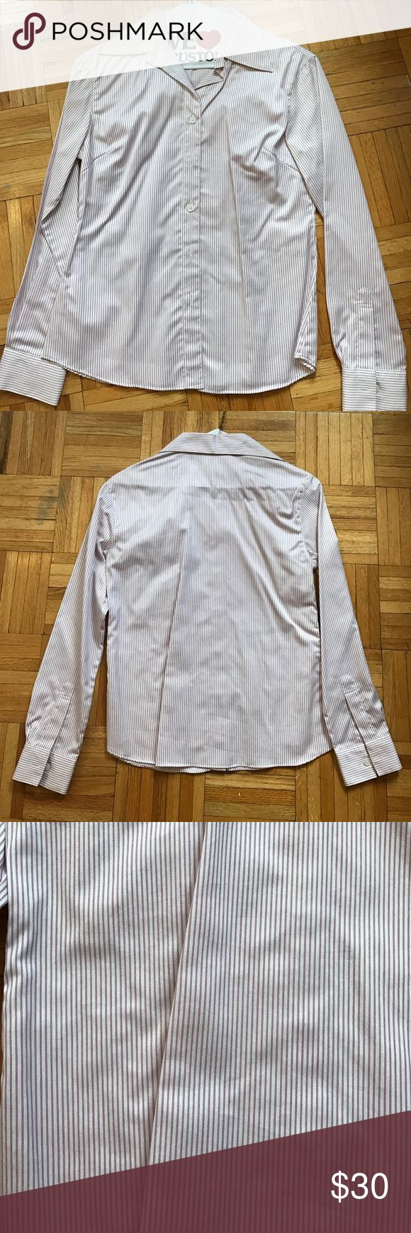 """Petite Women's Custom Tailored Dress Shirt High quality - condition like new; 34B chest, 21"""" shirt and sleeve length Tops Button Down Shirts"""