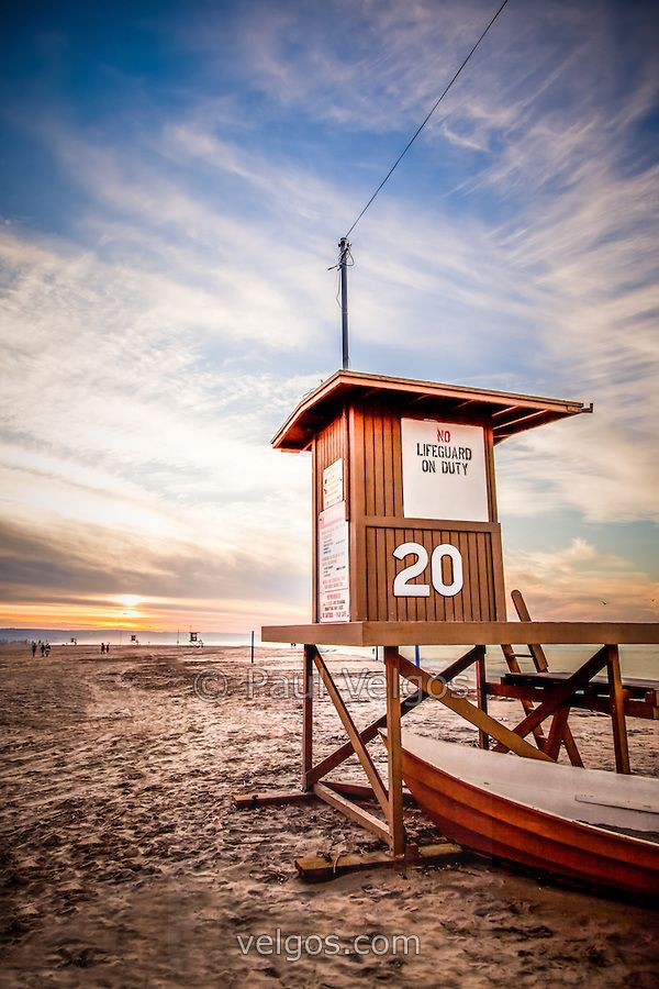 Sunrise, Lifeguard Tower 20, Newport Beach, CA | Paul Velgos Photography