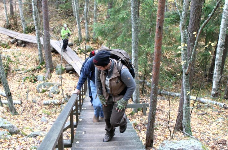 Read a story of our hiking in Repovesi in October.