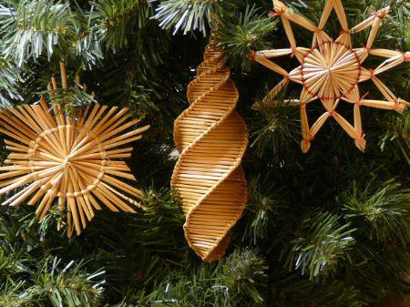 Woven Wheat Ornaments