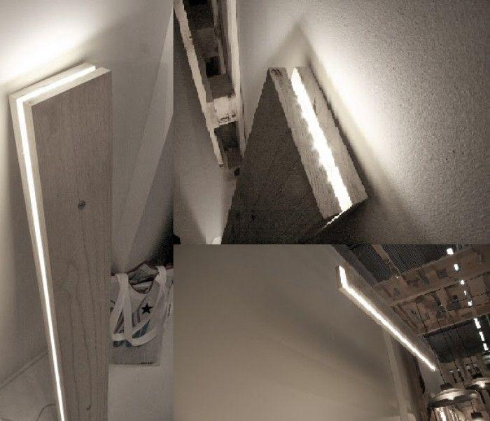 Budget tip: LED Verlichting. Makkelijk zelf te maken: 2 planken, en LED verlichting ertussen. Voor tegen of aan de wand, of voor boven de tafel.