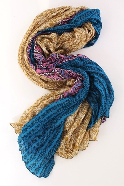 Blue Multi Soft Sheer Tribal Printed Decor Scarf @ Amiclubwear scarf Online Store,scarves,womens scarves,women's scarves,ladies scarves,scarves for women,cheap scarves,magic scarves,long scarves,shawls and scarves,silk scarf,lace scarf,celebrity scarves