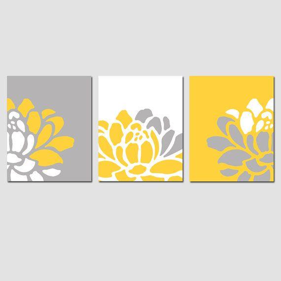 Flores Trio Set de 11 x tres 14 impresiones vivero por Tessyla