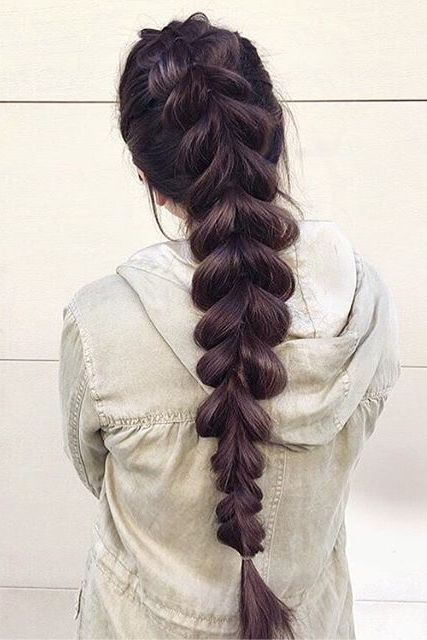 Quick and easy two strand braid, on the beautiful @mariclairecranston! Click to learn how to create this super simple hairstyle!   Photo By: https://www.instagram.com/p/-zipUgLBHJ/?taken-by=mariclairecranston