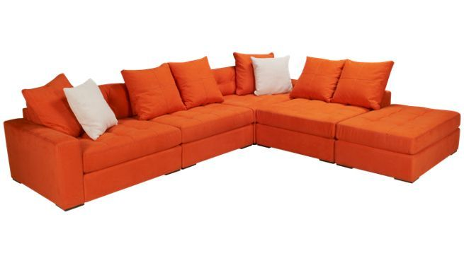 Jonathan Louis - Noah - 5 Piece Sectional - Sectionals for Sale in MA RI and NH at Jordanu0027s Furniture | Furniture | Pinterest | Orange couch Living rooms ...  sc 1 st  Pinterest : jonathan louis noah sectional - Sectionals, Sofas & Couches