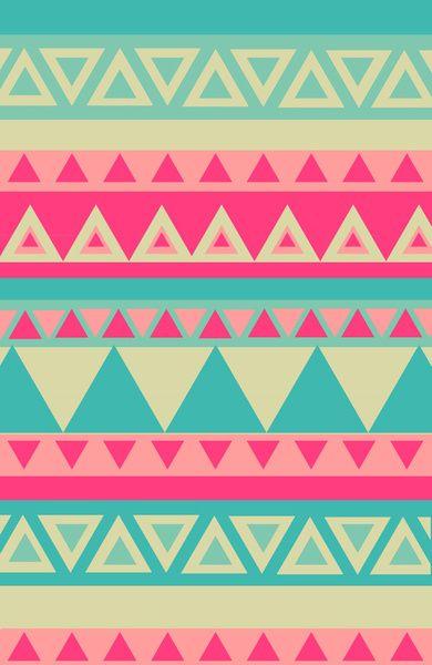 Tropical Tribal Art Print | Quilt designs, Aztec designs ...