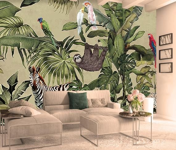 Wonderful Forest Nature Inspired Removable Wallpaper Mysterious Nursery Wall Moves Imagination A Kids Room Murals Kids Room Wallpaper Kids Room Wall Murals