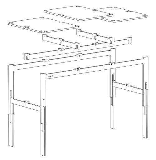 Minimal Waste + Table By Fraaiheid