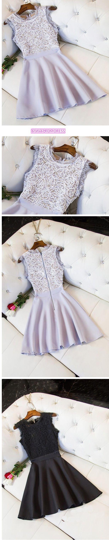 2017 Homecoming Dress Black Sleeveless Short Prom Dress Party Dress JK058