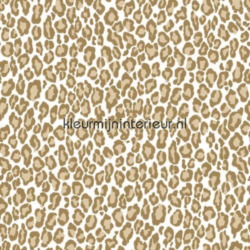 Panterprint bruin behang 136808, Love van Esta home