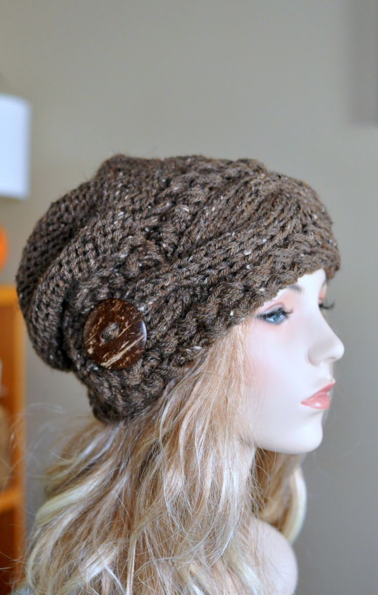 Slouchy Cable Knit Hat Pattern : 17 Best images about Pin loom on Pinterest Cable, Bags and Loom beading