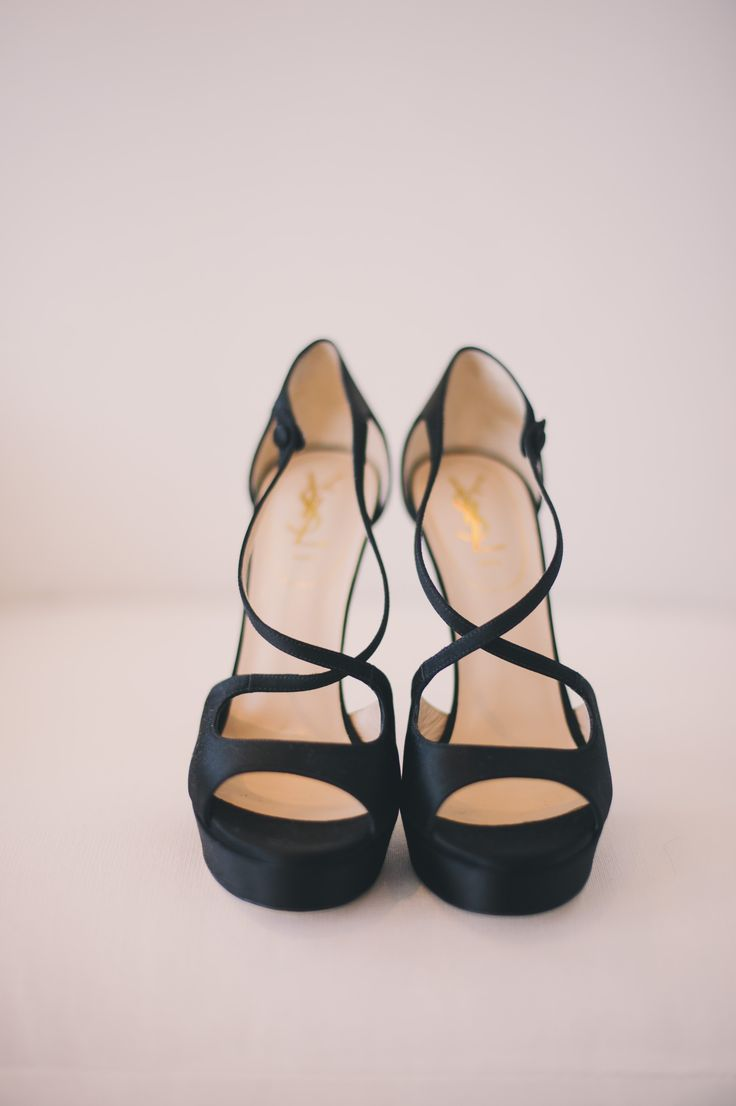 Hello, strappy black beauts! #shoes #wedding   Photography: tonyspinelliphotography.com
