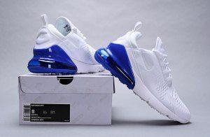 2705872b7231fb Direct factory Nike Air Max 270 White Metallic Silver Photo Blue AQ7982 100  Women s Men s Casual Shoes
