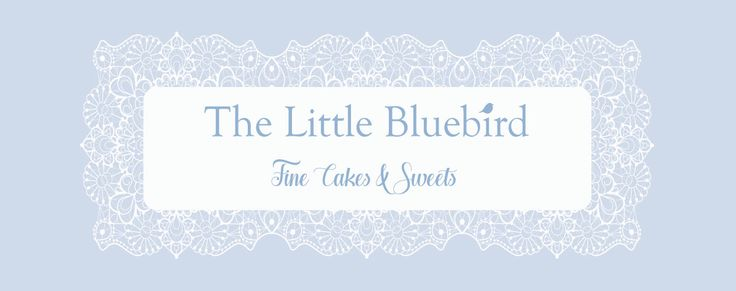 The Little Bluebird Design Options Blue with white lace, what a classic combination of refined elegance.