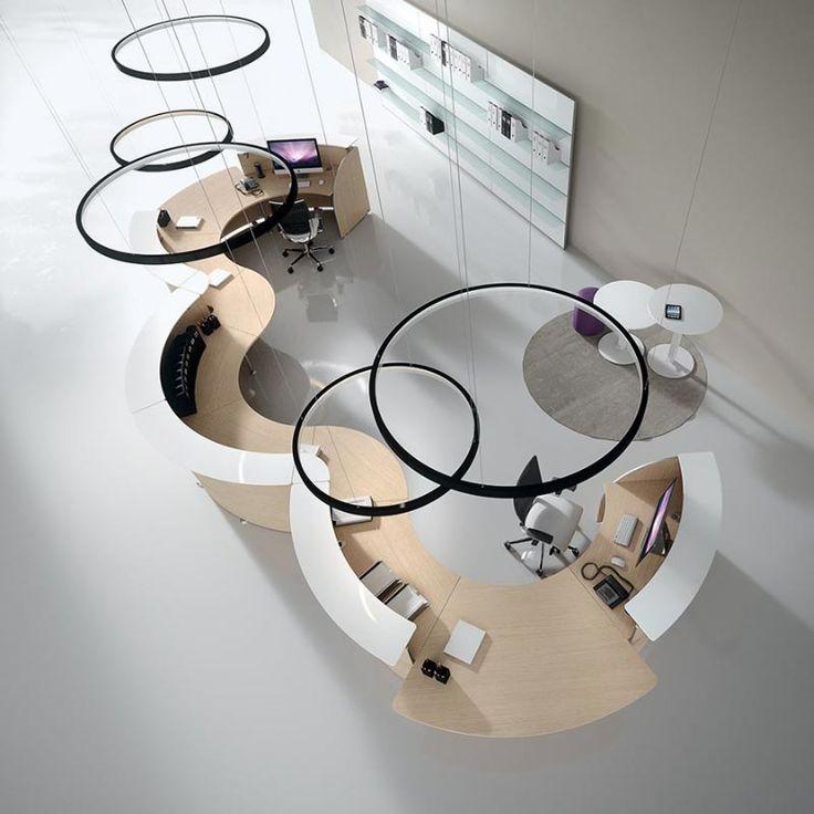 Mostrador de recepción Abako. Diseño italiano de gran belleza. Más información en:  http://laoficinaonline.es/mostradores-recepcion/251-mostrador-recepcion-abako-diseno.html