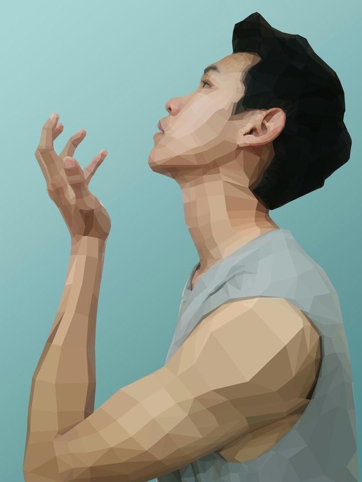 Polygon art Digital graphic