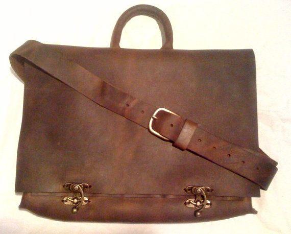 Leather messenger bag  unisex  satchel  bag  by NadiraBag on Etsy, $333.00