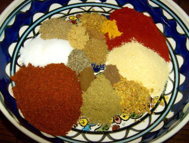 This is from the Congo Cookbook and states: Berbere is an Ethiopian spice mixture that is the flavoring foundation of Ethiopian cuisine, a basic ingredient in Dabo Kolo, Doro Wat, and many other dishes.  A milder berbere can be made by substituting paprika for some or most of the red pepper.  Berbere is sometimes made as a dry spice mix, and is sometimes made with oil or water to form a paste.  Starting with whole spices, the various nuts and seeds and dried red chile peppers, then…