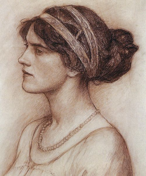John William Waterhouse - Study for the Portrait of the Marchioness of Downshire (1914)