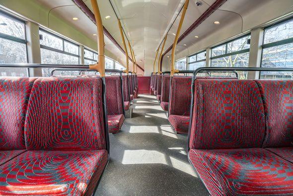 Empty seats in double decker bus - Stock Photo - Images Download here : https://photodune.net/item/empty-seats-in-double-decker-bus/20094408?s_rank=222&ref=Al-fatih