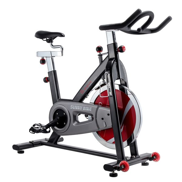 This smooth and quiet belt drive indoor cycling bike makes exercise convenient and effective not to mention very sturdy and stable. With a fully adjustable seat and handlebar, this bike would be a gra