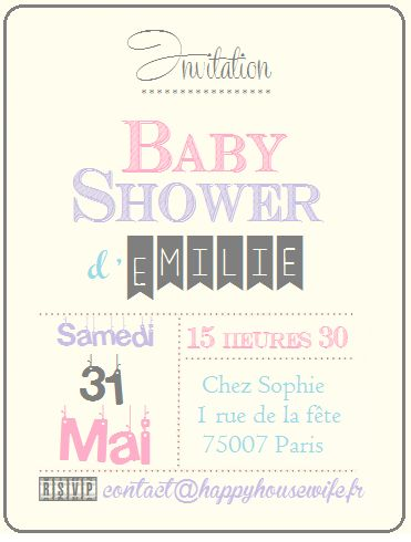 Invitation Baby Shower {Free Printable}