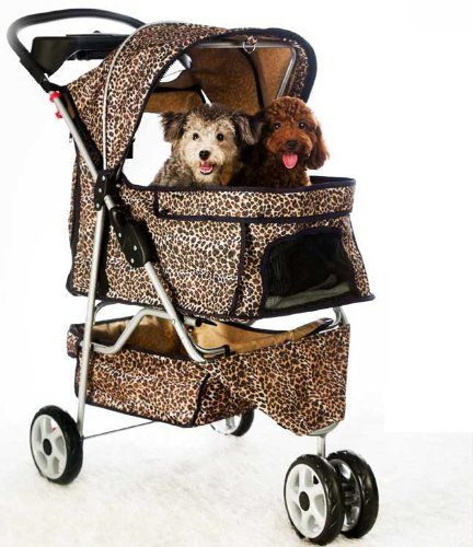 All Terrain Extra Wide Leopard Skin 3 Wheels Pet Dog Cat Stroller w/RainCover BestPet http://www.amazon.com/dp/B0032ZXFVG/ref=cm_sw_r_pi_dp_XNX4vb0BMN0EA