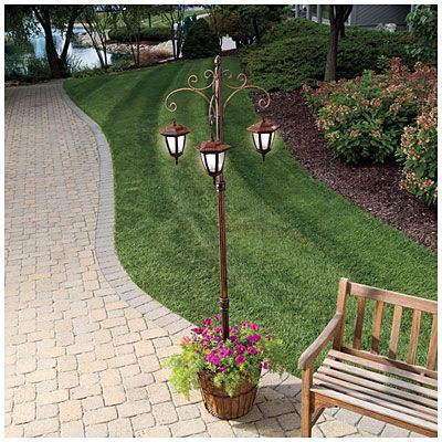 View Solar Light Post Plant Stand Deals At Big Lots We Got